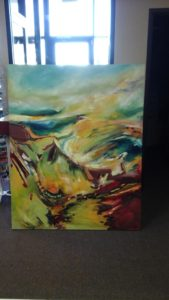 We were happy to ship out this 4'x5' painting for our customer via freight!