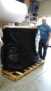 The final product! This painting is palletized and ready to be shipped safely via freight - nothing is too big for us to handle!